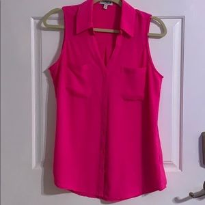 Womens Express sleeveless button down shirt